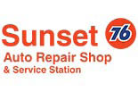 SUNSET 76 STATION logo