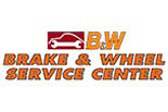 B & W BRAKE AND WHEEL logo