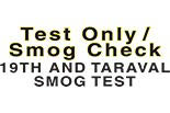 19TH AND TARAVAL  SMOG TEST logo