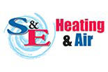 S&E HEATING & AIR logo