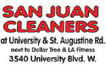San Juan Cleaners logo