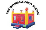 B & V INFLATABLE PARTY RENTALS logo