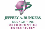 JEFFERY BUNKERS, DDS & ORTHODONTICS logo