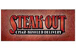 STEAK OUT logo