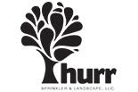 HURR SPRINKLER AND LANDSCAPE logo