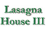 THE LASAGNA HOUSE logo
