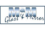 M&M GLASS & MIRROR logo