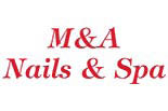 M & A NAILS AND SPA logo