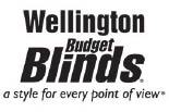 Wellington Budget Blinds logo