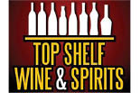 TOP SHELF WINE & SPIRITS logo