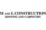 M & L Construction logo