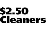 $2.50 Dry Cleaners logo