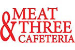 Meat & Three Cafeteria logo