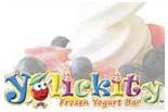 Yolickity Frozen Yogurt Bar logo