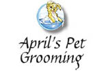 APRIL'S PET GROOMING logo