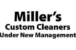 MILLER'S CUSTOM CLEANERS logo