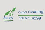 JAMES CARPET CLEANING logo
