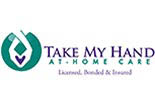 TAKE MY HAND AT HOME CARE logo
