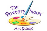 THE POTTERY NOOK ART STUDIO logo