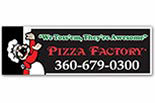 PIZZA FACTORY - OAK HARBOR logo