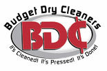 BUDGET DRY CLEANERS logo