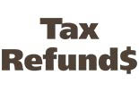 TAX REFUND$ logo