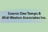 SOURCE ONE TEMPS & MID-WESTON ASSOCIATES INC. logo