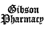 GIBSON PHARMACY logo