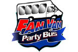 THE FAN VAN PARTY BUS NEW JERSEY logo