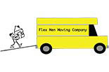 FLEX MEN MOVING COMPANY logo