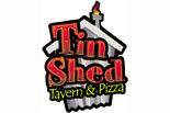 TIN SHED TAVERN & PIZZA logo
