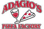 ADAGIO'S PIZZA FACTORY logo