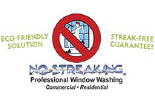 NO STREAKING PROFESSIONAL WINDOW WASHING logo