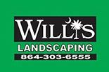 WILLIS LANDSCAPING logo
