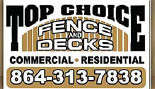 TOP CHOICE FENCE logo