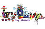 TRY & BUY TOY STORES logo