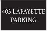 403 LAFAYETTE & 221 THOMPSON ST. PARKING logo