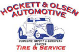 HOCKETT AND OLSEN AUTOMOTIVE logo