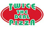 TWICE THE DEAL PIZZA logo