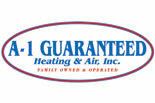 A-1 GUARANTEED HEATING & AIR logo