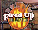 FIRED UP COAL OVEN PIZZA logo
