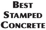 BEST STAMPED CONCRETE logo