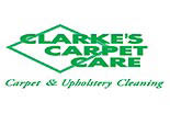 CLARKE'S CARPET CARE logo