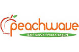 PEACHWAVE YOGURT logo