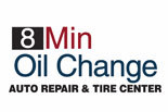 8 MINUTE OIL CHANGE logo