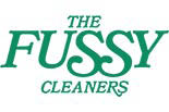 THE FUSSY CLEANERS logo