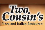 TWO COUSINS PIZZA logo