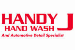 HANDY J HAND CARWASH logo