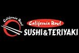 CALIFORNIA BOWL SUSHI & TERIYAKI logo