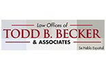 LAW OFFICES OF TODD BECKER**** logo
